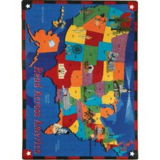 Educational Read Across America Kids Rug