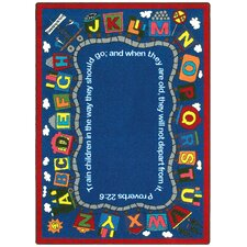 Faith Based Bible Train Area Rug
