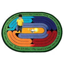 <strong>Joy Carpets</strong> Faith Based Pathway of Light Kids Rug