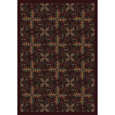 <strong>Joy Carpets</strong> Nature Tahoe Burgundy Novelty Rug