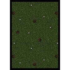 <strong>Joy Carpets</strong> Sports Back Nine Novelty Rug