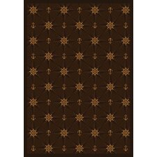<strong>Joy Carpets</strong> Whimsy Mariner's Tale Chocolate Novelty Rug