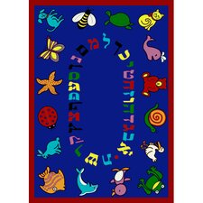 <strong>Joy Carpets</strong> Educational ABC Animals Hebrew Alphabet Kids Rug
