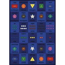 Educational Button Button Area Rug
