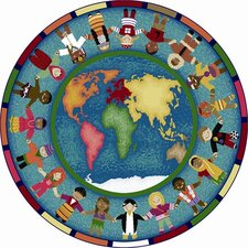 <strong>Joy Carpets</strong> Educational Hands Around the World Kids Rug