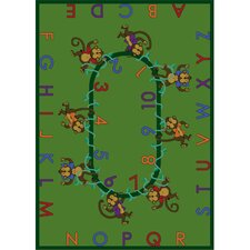 <strong>Joy Carpets</strong> Educational Monkey Business Kids Rug