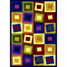 Whimsy Square Off Balance Kids Rug