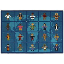 Educational Reach Across the World Kids Rug