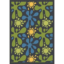 Whimsy Splat Green/Yellow Rug