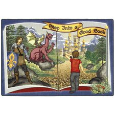 Educational Step into a Good Book Kids Rug