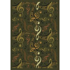 Whimsy Virtuouso Green/Black Area Rug
