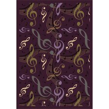 Whimsy Virtuouso Purple/Green Area Rug
