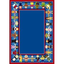 Educational Children of Many Cultures Area Rug