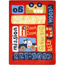 <strong>Joy Carpets</strong> Just For Kids Ready, Set, Go Kids Rug
