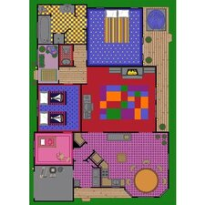 <strong>Joy Carpets</strong> Educational Creative Play House Kids Rug