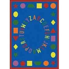 Educational First Lessons Blue Area Rug