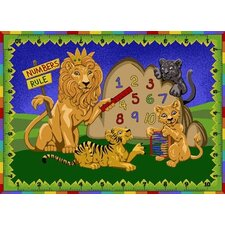 Educational Numbers Rule Kids Rug