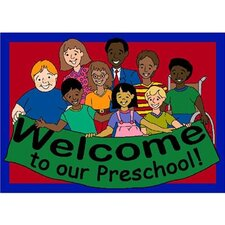 <strong>Joy Carpets</strong> Educational Welcome to Our Preschool Kids Mat