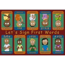 <strong>Joy Carpets</strong> Educational First Signs Kids Rug