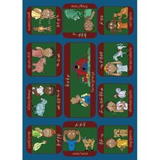 Educational Signs on the Farm Kids Rug