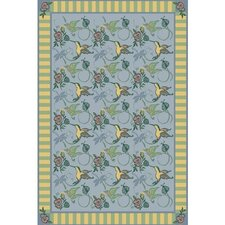 Nature Blue Flights of Fantasy Novelty Rug