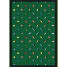 Sports Green Billiards Novelty Rug