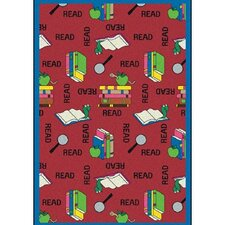 Educational Bookworm Kids Rug