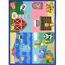 Kid Essentials Animals All Around Kids Rug