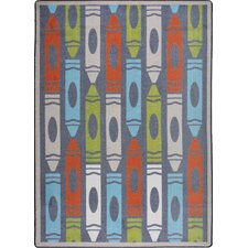 Playful Patterns Jumbo Crayons Chalkdust Kids Rug