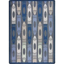Playful Patterns Seaside Jumbo Crayons Kids Rug