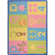 Kid Essentials Toddler Basics Pastel Kids Rug