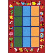 <strong>Joy Carpets</strong> Educational Alphabet Phonics Kids Rug