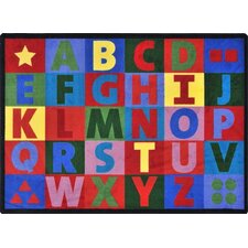 <strong>Joy Carpets</strong> Kid Essentials Oversize Alphabet Kids Rug