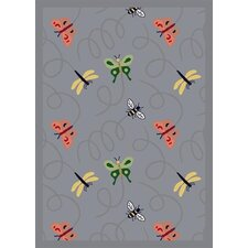Nature Blue Wing Dings Novelty Rug