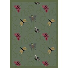 Nature Green Wing Dings Novelty Rug