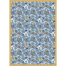 Nature Blue Flower Gardens Novelty Rug