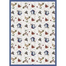 Nature Beige Flower Gardens Novelty Rug