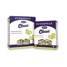 Use E-A-R® Classic® Cylinder Shaped PVC And Foam Uncorded Earplugs (1 Pair Per Poly Bag, 500 Pair Per Econopack Dispenser Box)