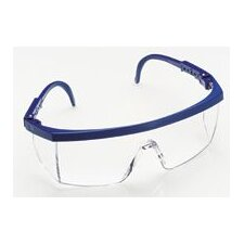 Plus Safety Glasses With Dark Blue Frame And DX™ Clear Lens