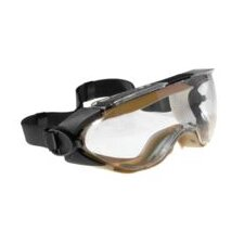 Splash Goggle With Duosoft Shroud And Low Profile Clear Lens With DX Anti-Fog Hard Coating
