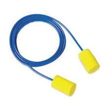 Use E-A-R® Classic Soft™ Cylinder Shaped PVC And Foam Corded Earplugs (1 Pair Per Poly Bag, 200 Pair Per Box)