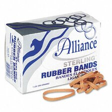 Sterling Ergonomically Correct Rubber Bands, #64, 3-1/2 X 1/4, 425 Bands/1Lb Box