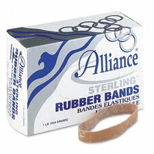 Sterling Ergonomically Correct Rubber Bands, #105, 5 X 5/8, 70 Bands/1Lb Box