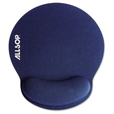 "<strong>Allsop</strong> Memory Foam Mouse Pad with Wrist Rest, 7 1/4"" X 8 1/4"""