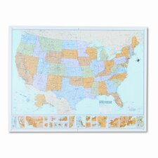 <strong>American Map Company</strong> Rand Mcnally M-Series Full-Color Laminated United States Wall Map, 50 X 32