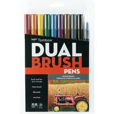 Dual Brush Pen 10/Pack