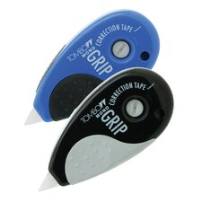 MONO Blue & Black Grip Correction Tape Top Dispenser (2 Pack)