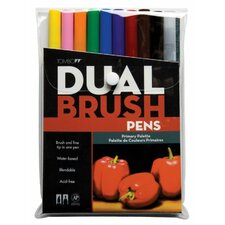 Dual Brush Primary Pen (Set of 10)