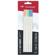 Irojiten Colored Pencil Set - 5 Soft Primary Colors