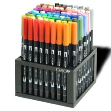 Professional Dual Brush Pen Marker Set - 96 Colors with Desk Stand